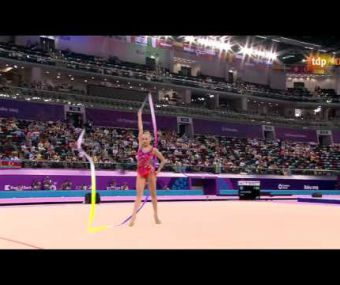 Yana Kudryavtseva. 2015 European Games. EF. Ribbon