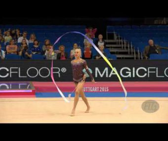 Yana KUDRYAVTSEVA (RUS) 2015 Rhythmic Worlds Stuttgart - Qualifications Ribbon