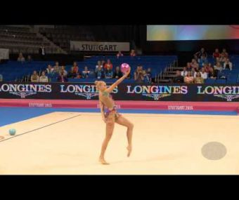 KUDRYAVTSEVA Yana (RUS) – 2015 Rhythmic Worlds, Stuttgart (GER), Qualifications Ball